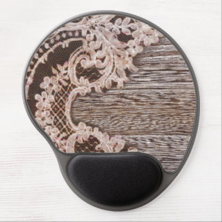 modern girly rustic barn wood western country lace gel mouse pad