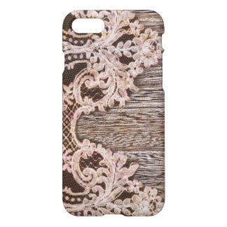 modern girly rustic barn wood western country lace iPhone 8/7 case