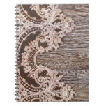 modern girly rustic barn wood western country lace note book