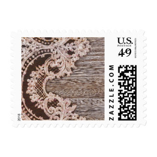 modern girly rustic barn wood western country lace stamp