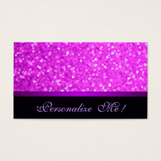 Modern Girly Sparkle Pink Glitter Purple Elegant Business Card