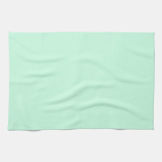 modern girly spring powder green mint solid color hand towels