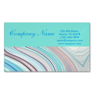 Professional Business modern girly swirls fashion beauty coral turquoise business card magnet