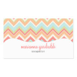 Modern Girly Trendy Aztec Print Personalized Business Cards