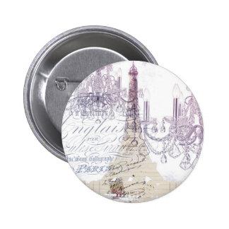 modern girly vintage chandelier paris eiffel tower button