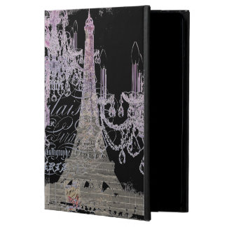 modern girly vintage chandelier paris eiffel tower cover for iPad air