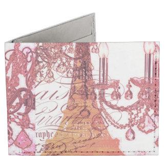 modern girly vintage chandelier paris eiffel tower tyvek wallet