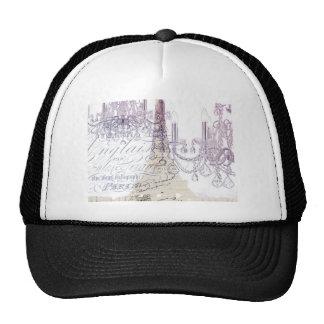 modern girly vintage chandelier paris eiffel tower trucker hat