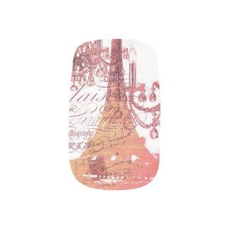modern girly vintage chandelier paris eiffel tower  Minx® nail art