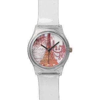 modern girly vintage chandelier paris eiffel tower wristwatch