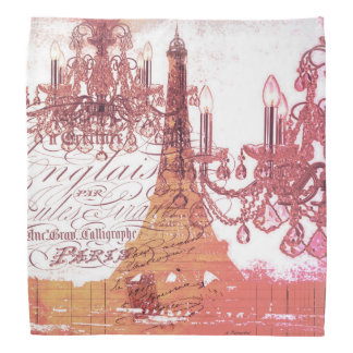 modern girly vintage chandelier paris eiffel tower bandana