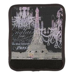 modern girly vintage chandelier paris eiffel tower luggage handle wrap