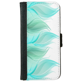Modern Girly Watercolor Feathers iPhone 6/6s Wallet Case