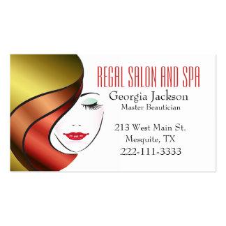Modern Glam Hair Salon Business Card
