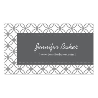 Modern Glamour Pattern for Designer/Boutique/Salon Double-Sided Standard Business Cards (Pack Of 100)