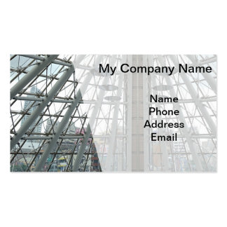 Modern Glass and Steel Architectural Design Double-Sided Standard Business Cards (Pack Of 100)
