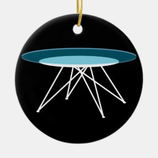 Modern glass coffee table ceramic ornament