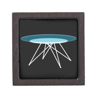 Modern glass coffee table jewelry box