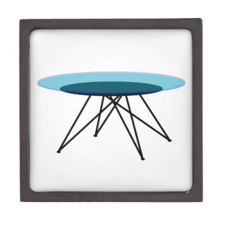 Modern glass coffee table keepsake box