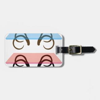 Modern glass coffee tables luggage tag