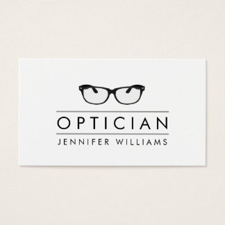 Modern Glasses Optician Business Card