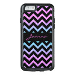 Modern Glitter And Black Chevron OtterBox iPhone 6/6s Case