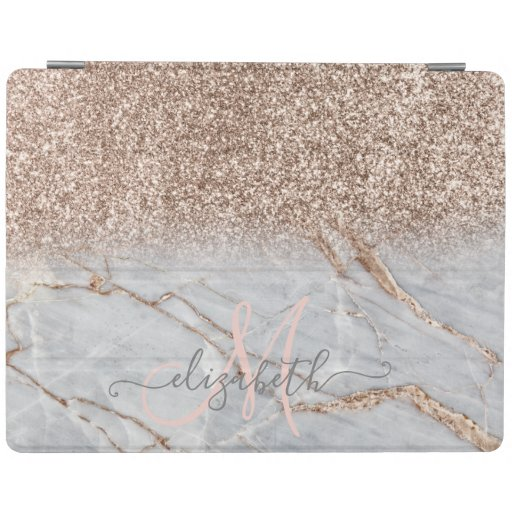 Modern Glitter Ombre Marble iPad Smart Cover