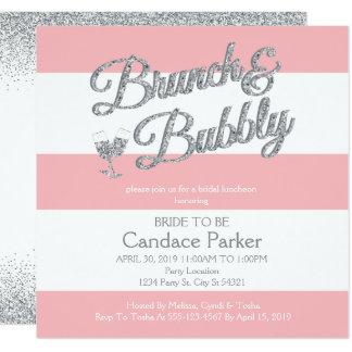 Modern Glitter, Pink Bridal Shower Invitations