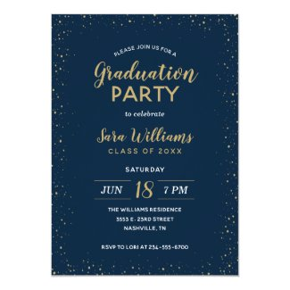 Modern Glitz Graduation Party Invitation