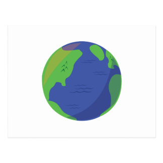Modern Globe Postcard