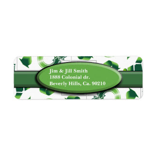 Modern Go Green & Recycle Collage Monogram Label