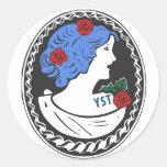 Modern Goddess Round Stickers