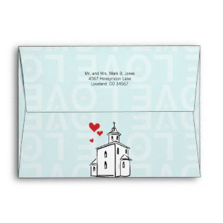 Modern Going to the Chapel Christian Religious Envelope