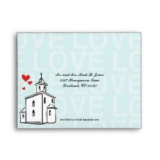 Modern Going to the Chapel Christian RSVP Envelope