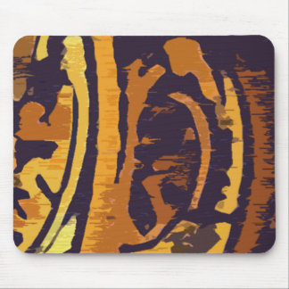 Modern Gold and Purple Design Mouse Pad