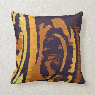 Modern Gold and Purple Design Throw Pillow