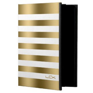 Modern Gold And White Tones Stripes Pattern Powis iPad Air 2 Case