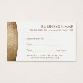 Modern Gold Appointment Business Card