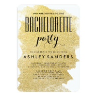 MODERN GOLD BACHELORETTE PARTY INVITATION