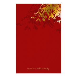 Modern Gold Bamboo Zen Asian Wedding Stationery