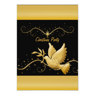 Modern gold black Christmas christian template Card at Zazzle