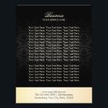 """Modern Gold &amp; Black Damask Elegant Brochures<br><div class=""""desc"""">Modern Gold &amp; Black Damask Elegant Brochures.</div>"""