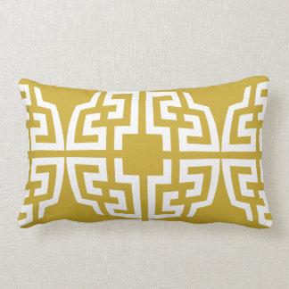 Modern gold chinoiserie chic geometric pillow