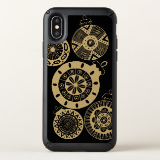 Modern Gold Christmas ornament, color changeable Speck iPhone X Case