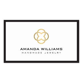 Modern Gold Clover Logo Designer Business Card