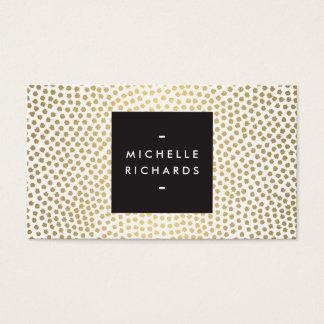 Modern Gold Confetti Designer Business Card