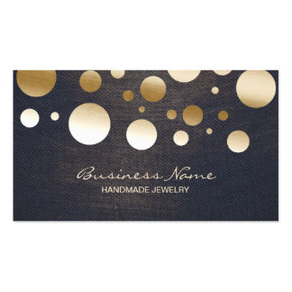 Modern Gold Confetti Dots Jewelry Business Card
