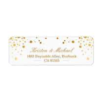 Modern Gold Confetti Dots | Stylish Elegant Label