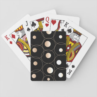 Modern Gold Dots & Circles Playing Cards