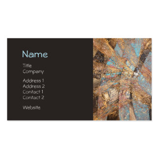 Modern Gold Embossed Designer Corporate Profile Double-Sided Standard Business Cards (Pack Of 100)